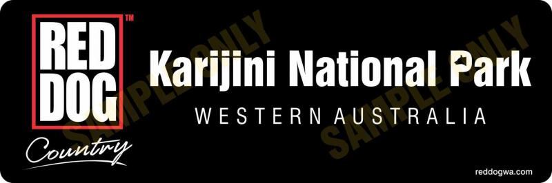 Karijini National Park - Red Dog Country Bumper Sticker