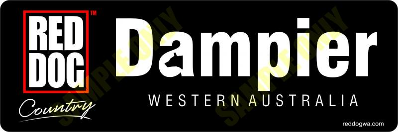 Dampier Red Dog Bumper Sticker