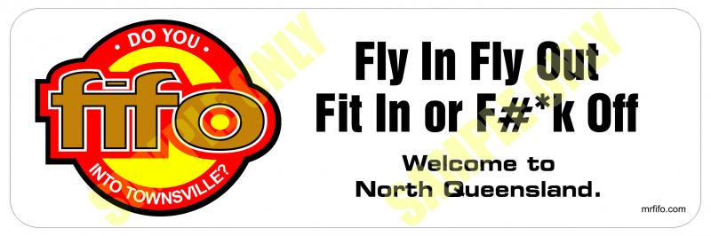 Townsville fifo sticker australian order