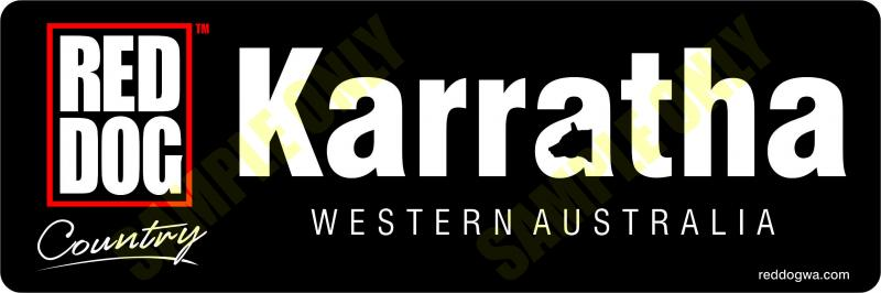 Karratha  Red Dog Country Bumper Sticker