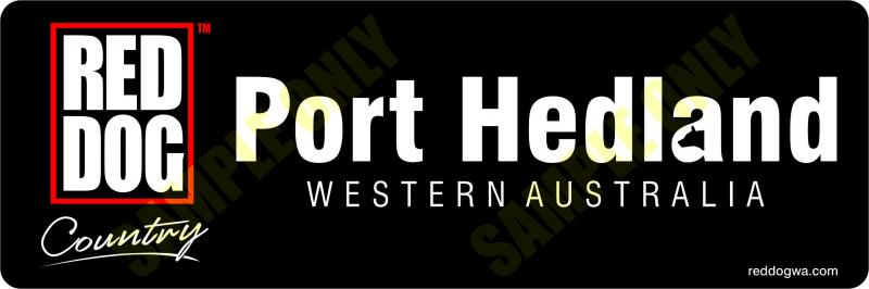 Port Hedland Red Dog Country Bumper stickers